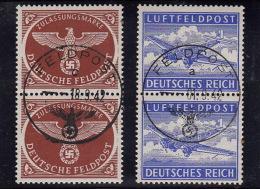 Feldpostmarken Nr 1 Und 2.  Luxus Stempel Setember 1942 / Zuzamenhängend - Unclassified