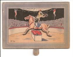 Rare Carte à Système, écuyère Sur Son Cheval Articulé, Dans Un Cirque - A Systèmes