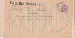 """BLANC N°108 2c Obl """" PARIS RP 18 PERIODIQUES12/12/10 """" SEUL Sur Bande JOURNAL """" LA LETTRE PARISIENNE """" > Tarn Et Garonne - 1877-1920: Periodo Semi Moderno"""