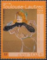 FRANCE Poste 3421 ** Tableau Henri De TOULOUSE-LAUTREC : Yvette Guilbert Chantant Linger, Longer, Loo - Unused Stamps