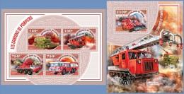 nig14503ab Niger 2014 Fire Engines 2 s/s