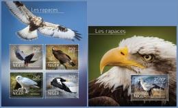 nig14512ab Niger 2014 Birds of Prey 2 s/s
