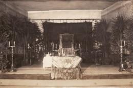 Photo 1918 RIGA - Pesach, Cérémonie Religieuse Allemande, Messe (A91, Ww1, Wk 1) - Lettonie