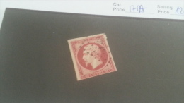 LOT 236899 TIMBRE DE FRANCE OBLITERE N�17A VALEUR 120 EUROS