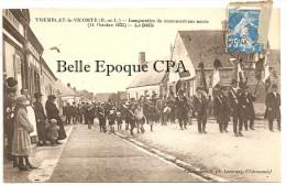 28 - TREMBLAY-le-VICOMTE - Inauguration Du Monument Aux Morts - 14 Octobre 1923 - Le Défilé / FANFARE +++++ RARE - Autres Communes