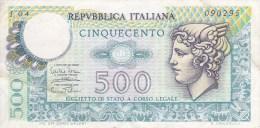 Italie Billet 500 Lire Républica Italiana 14 - 2 - 1974 - 500 Lire