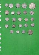 Monete D´ Argento - N° 24 Monete Per 100 Grammi Di Peso, Mondiali. - Monete & Banconote