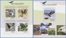 gu14413ab Guinea 2014 Birds Hawks 2 s/s