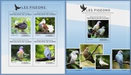 gu14415ab Guinea 2014 Birds Pigeon 2 s/s