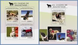 gu14417ab Guinea 2014 Rescue Dog 2 s/s