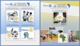 gu14418ab Guinea 2014 Rotary in Africa 2 s/s