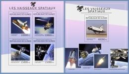 gu14420ab Guinea 2014 Space Spacecraft 2 s/s
