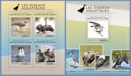 gu14423ab Guinea 2014 Birds Water Birds 2 s/s