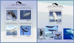 gu14424ab Guinea 2014 Whale 2 s/s