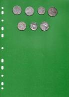 Monete D´ Argento - N°6 Arg. Regno + 1 Nichel Regno. - Italia
