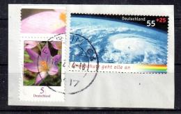 BRD/Bund 2006:Mi. Von 2508 O Gestempelt/used, Briefstück, Vollstempel&Zuzahlung Krokus 5Ct, Klimaschutz, S. Scan - Gebruikt