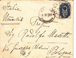 Mosca To Bologna. Cover 1900. Con Contenuto. - 1857-1916 Empire