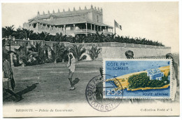 COTE DES SOMALIS CARTE MAXIMUM DU PA 22 PALAIS DU GOUVERNEUR A DJIBOUTI OBLITERATION 22 NOV 49 DJIBOUTI - Côte Française Des Somalis (1894-1967)
