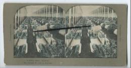 Vues Stéréoscopiques  Sur Carton - A.Cotton Fabric-Charlotte - Une Fabrique De Coton En Amérique - Cartes Postales