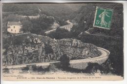 MUR DE BARREZ 12 - Tournant Dangereux De La Route De La Cadène - CPA - Aveyron - France