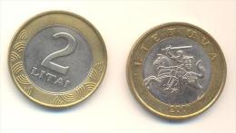 LITUANIA  2 LITAI  ANNO 2001 - Lituania