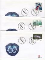 GREENLAND 2005 Scientific Discoveries Set On 3 FDCs. Michel 445-47 - FDC