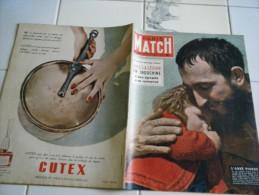 PARIS MATCH N�255-20 FEVRIER 1954-L�ABBE PIERRE �LA LEGION L INDOCHINE 45 CROIX DE GUERRE-PERPIGNAN PARIS-LUXEUIL-MUSEE
