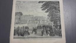 1868 PALAIS DE SAINT CLOUD - CORBEIL SEINE ET OISE - FONTAINEBLEAU - INVENTION DE LA LOCOMOTIVE - LE JOURNAL ILLUSTR�E