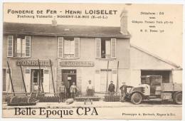 28 - NOGENT-le-ROI - Faubourg Valmorin - FONDERIE De FER - Henri LOISELET ++++ A. Berhault, Nogent-le-Roi +++ RARE / TOP - Nogent Le Roi
