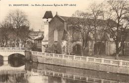 24. CP. Dordogne. Brantome. La Halle (ancienne église Du XVè Sciècle) - Brantome