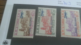 LOT 237074 TIMBRE DE COLONIE TUNISIE NEUF* N�7 A 9 VALEUR 13 EUROS