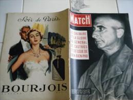 PARIS MATCH N�268-22  MAI 1954-LE CALVAIRE ET GLOIRE DU GAL DE CASTRIES ET DIEN BIEN PHU- CHAMPS ELYSEES  PARACHUTISTES