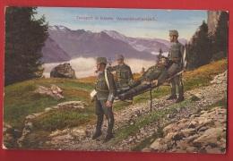 TMI2-09 Schweizer Armee, Militär, Verwundetentransport, Militaire, Transport De Blessés. FEldpost.Traces De Colle Au Dos - Switzerland