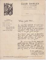 Lettre Publicitaire Du Club Shirley Temple - Advertising