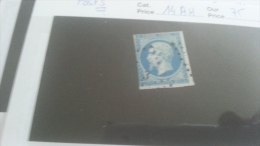 LOT 237118 TIMBRE DE FRANCE OBLITERE N�14AH POSTS VALEUR 75 EUROS