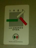 TESSERE DI PARTITO - PARTITO LIBERALE ITALIANO 1987 - Vecchi Documenti