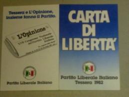 TESSERE DI PARTITO - PARTITO LIBERALE ITALIANO 1982 - Vecchi Documenti