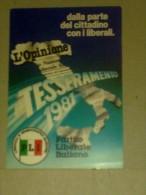 TESSERE DI PARTITO - PARTITO LIBERALE ITALIANO 1981 - Vecchi Documenti