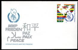 DDR U5 JAHR DES FRIEDENS ** 1986  Kat. 4,00 € - Private Covers - Mint