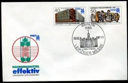 DDR U6 Umschlag MESSE Leipzig Sost.. GOHLISER SCHLÖSSCHEN 1987  Kat. 4,00 € - Châteaux