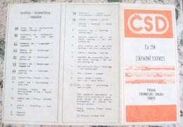 CZECHOSLOVAKIA-CSD,PRAHA- FRANKFURT(MAIN)-PARIS-COM UNIST PERIOD
