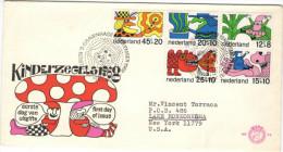 OLANDA - NEDERLAND - Paesi Bassi - 1971 - Kinderzegels - SURTAXE AU PROFIT DE L´ENFANCE - FDC - Viaggiata Per New Yor... - FDC