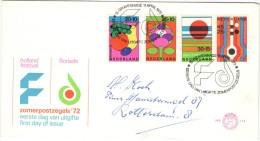 OLANDA - NEDERLAND - Paesi Bassi - 1972 - ZOMERZEGELS - FDC - Viaggiata Per Rotterdam - FDC