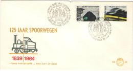 OLANDA - NEDERLAND - Paesi Bassi - 1964 - 125 Jaar Spoorwegen- FDC - FDC