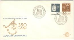 OLANDA - NEDERLAND - Paesi Bassi - 1964 - 350 YEARS ACADEMIA GRONINGANA- FDC - FDC