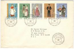 FINLANDIA - FINLAND - SUOMI - 1972 - National Costumes - FDC - Viaggiata Per New York, USA - Finlandia