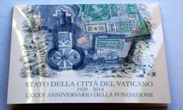 Vaticano 2014 - Folder 4 Postcards 85th Anniversary Foundation Vatican. FDC - Vaticaanstad