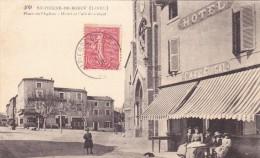 SAINT PIERRE DE BOEUF - Place De L'Eglise - Hôtel Et Café De Guigal (42) - Other Municipalities