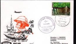 GABON, ENVELOPPE SABENA POUR BRUXELLES - Gabon (1960-...)