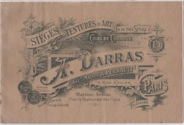 Livre Ancien Fabrique De  Sieges : A.  DARRAS , Paris ; Teintures Da Rt , Cuirs De  Cordoue - Livres, BD, Revues